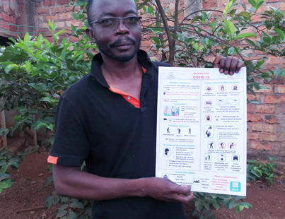 RFUK partner designs COVID-19 poster to help forest communities prepare
